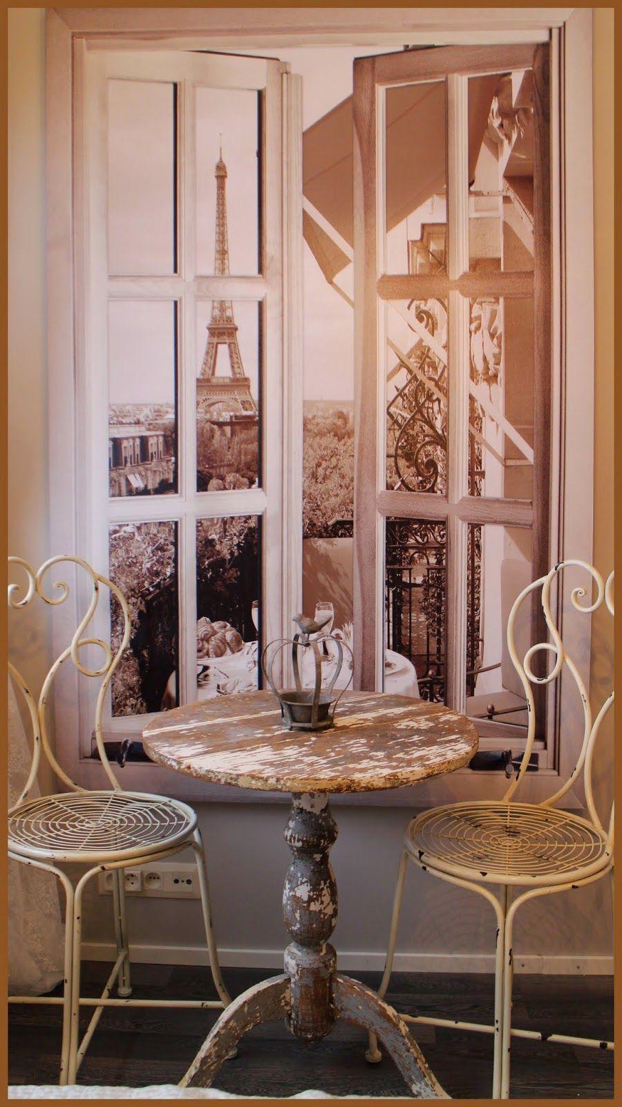 Pariisi-nurkkaus (maisema on canvas-taulu)
