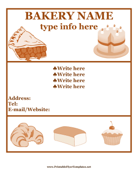 From Cakes To Croissants This Flyer Is Perfect For Advertising - Bakery brochure template free