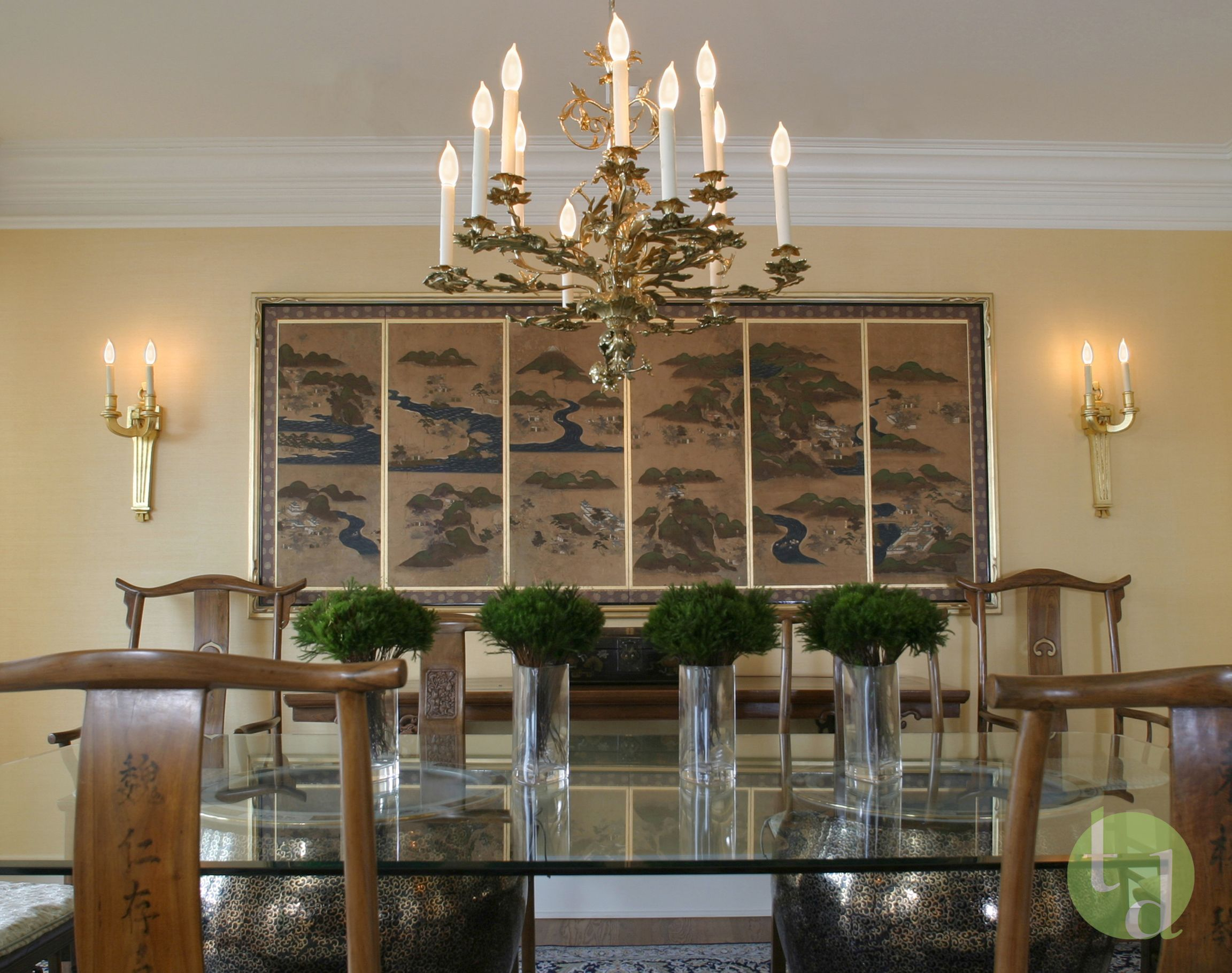 T. Duffy And Associates  Asian Inspired Dining Room In Traditional Interior  By T Duffy