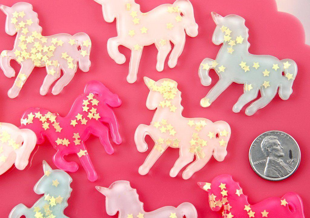 2pcs Horse Resin Flatback Cabochon Embellishment Decoden Scrapbooking Craft