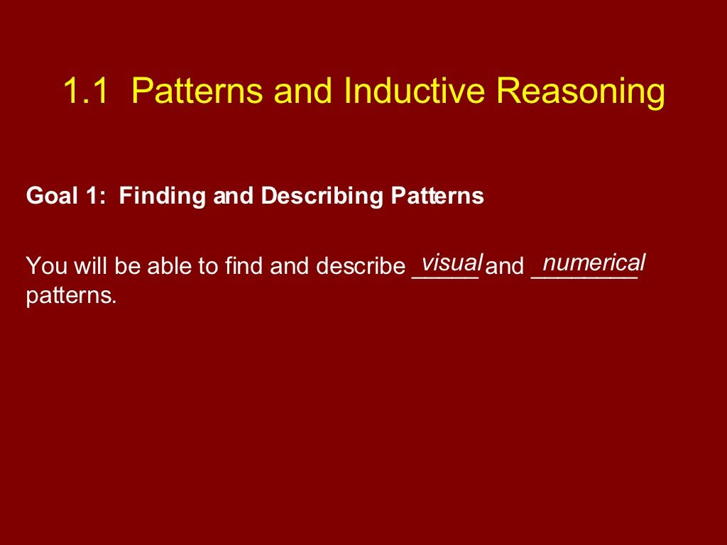 Patterns And Inductive Reasoning Has Good Questions