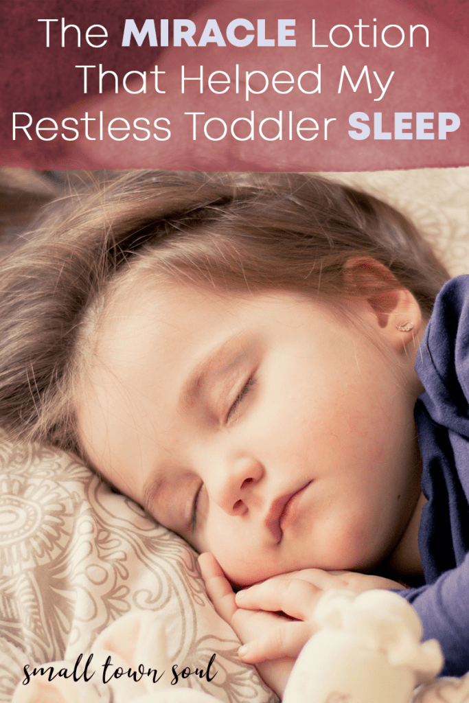 My toddler was taking an hour to go to sleep and waking up constantly until  I started using this lotion. It can help your child sleep through the night  too!