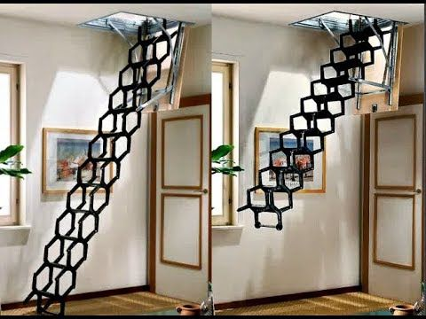 Best Amazing Folding Stairs Compilation Youtube Remodel 400 x 300