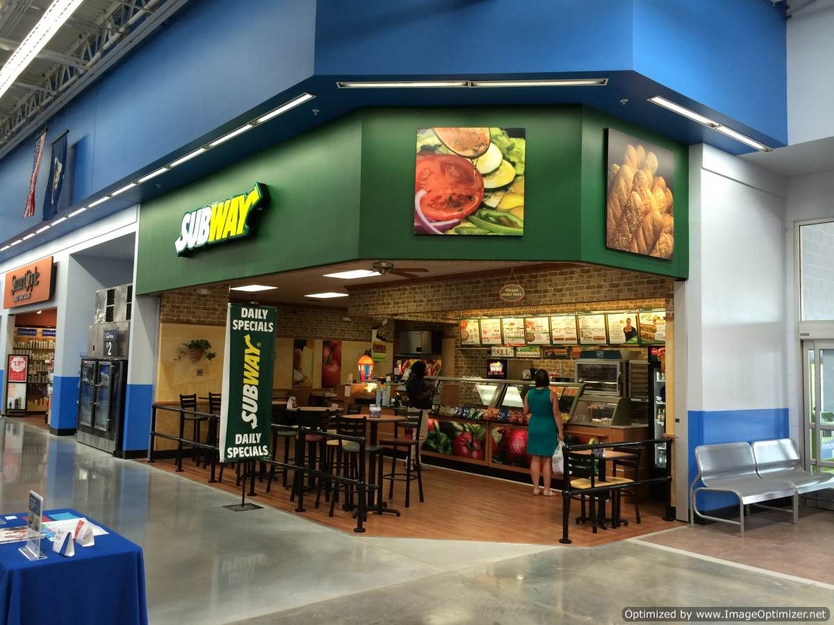 Subway Franchise Restaurant At Bluebonnet And Burbank Inside Walmart Project Details 1500 Square Foot Baton Rouge LaSquare FeetCommercial