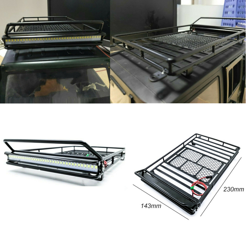 Metal Roof Rack Luggage Bracket For 1 10 Rc Crawler Car Wrangler D90 Axial Scx10 Ebay Rc Crawler Roof Rack Metal Roof