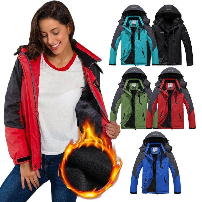 Winter Jacket Men Inner Fleece Outdoor Sport Coat Hiking Camping Trekking Skiing
