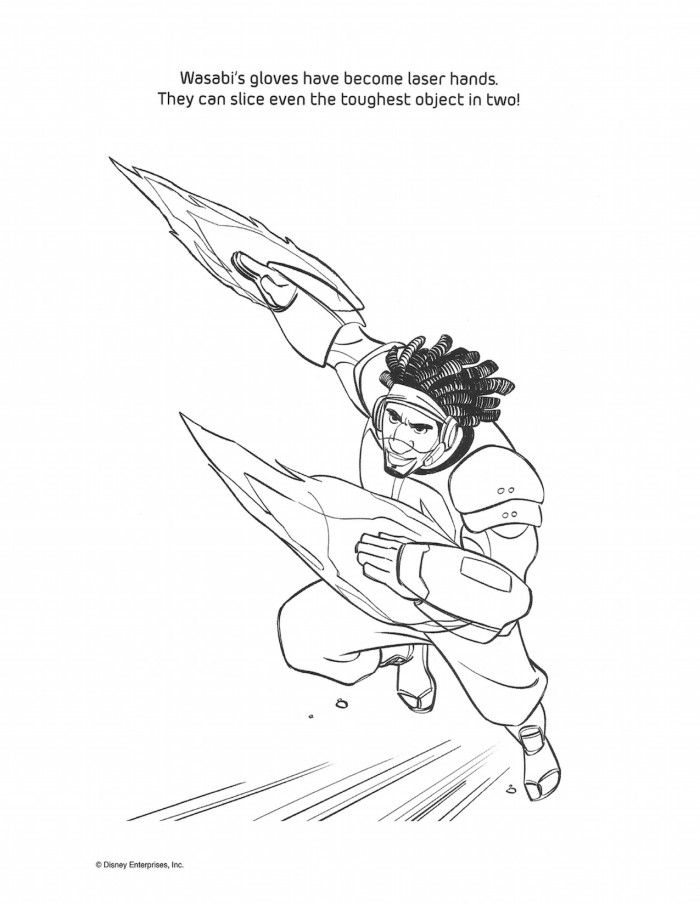 Big Hero 6 Colouring Pages Coloring Pages Big Hero 6 Disney