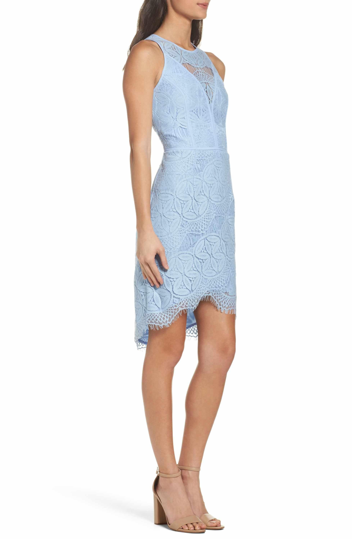 Main Image - Adelyn Rae Lace High Low Sheath Dress  b5fffe47f1