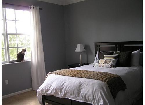 External Image   Slate blue walls, Grey walls, Bedroom colors