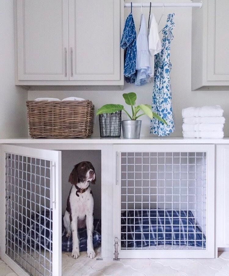 Pin By Maria Zuniga On L A U N D R Y Mud Rooms Dog Crate