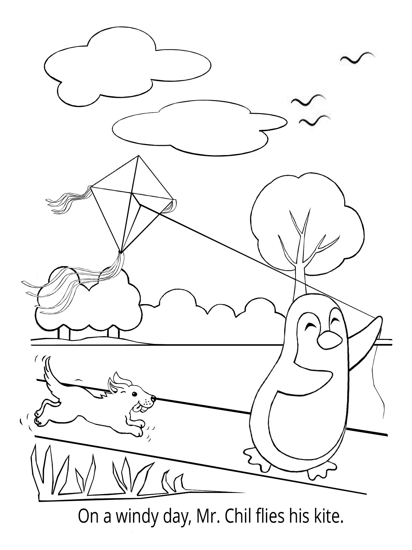 Penguin Coloring Book - Mr. Chil loves outdoor activities! | Summer ...