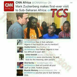 Nigerians react to CNNs omission of 'Nigeria' in Mark Zuckebergs visit to the country  #Steevane #SV #Nigeria