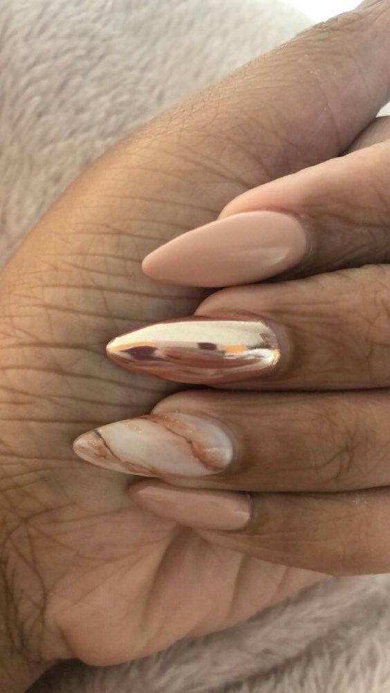 56 Classy Skin Color Nail Art Designs #fallbeauty