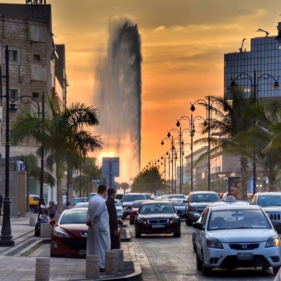 أطول نافورة بالعالم جدة Jeddah Saudi Arabia Jeddah Saudi Arabia