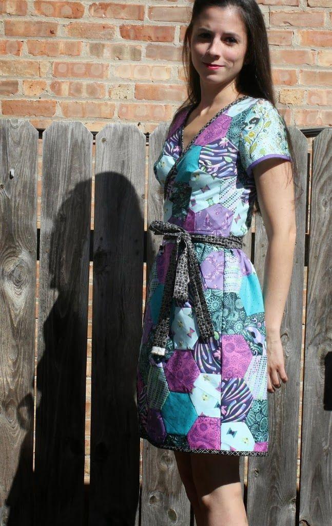 Ramona Wrap Dress in Tula Pink Acacia | Sew Sweetness