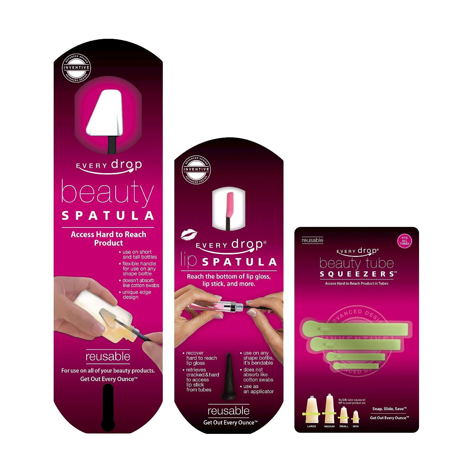 With the Every Drop Cosmetic Money Saving Tools, gone are