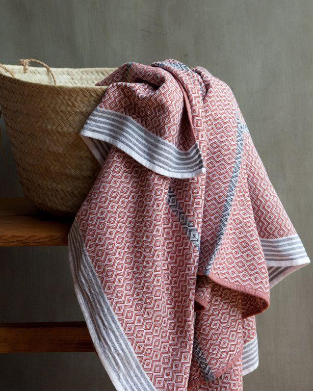 Itawuli Flat Weave Bath Towel By Mungo A South African Design