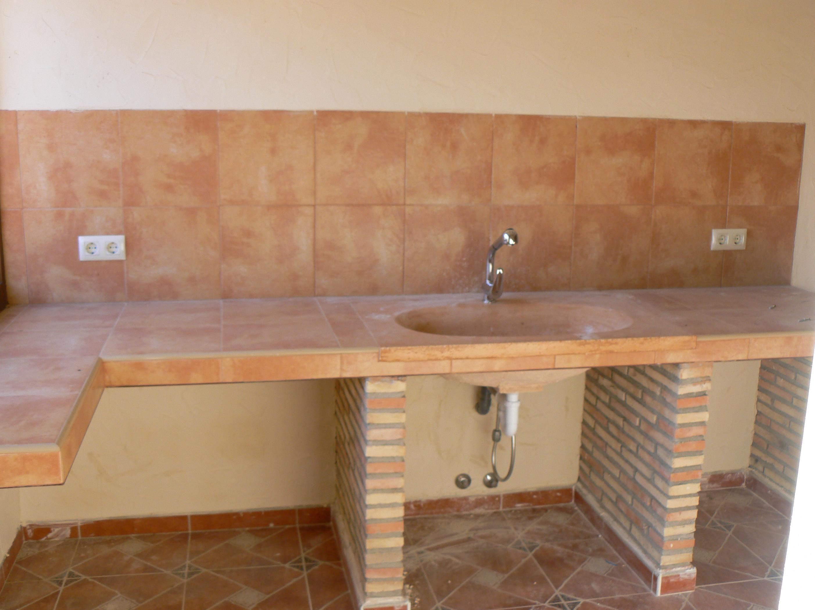 Cocina campo de ladrillo visto en google #cocina | Tornácos ház ...