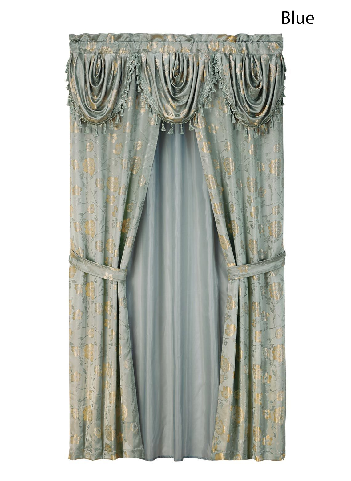 All In One Jacquard Curtain Set 20 00 Curtain Sets Curtains
