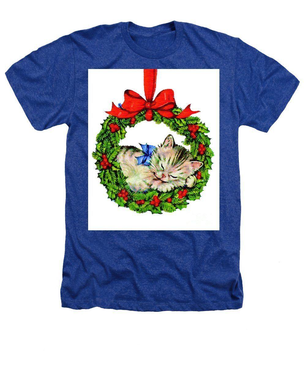 Heathers T-Shirt - Kitten In A Christmas Wreath