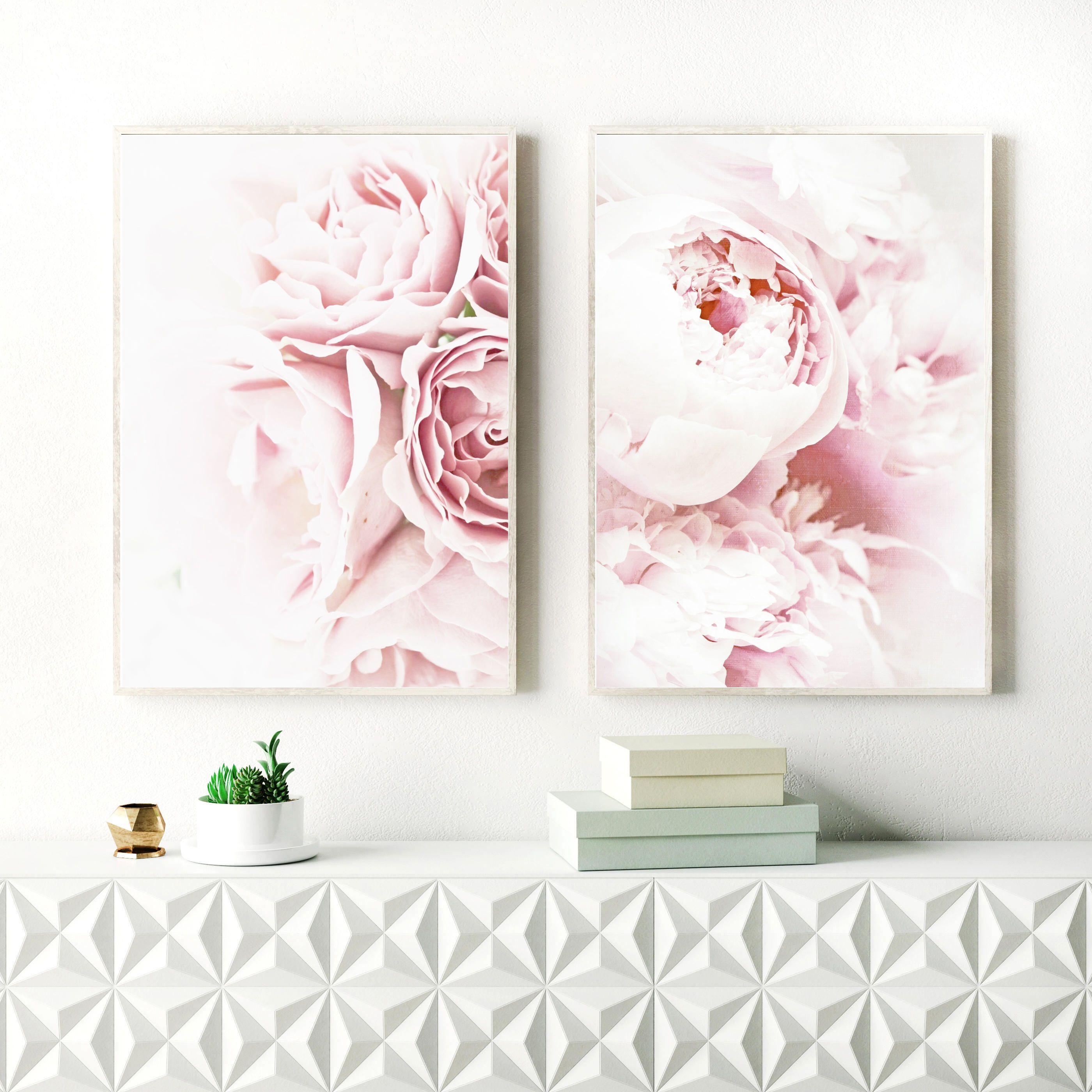 Peony Print, Flower Print Sets for Nursery, Kids Room, Nursery Decor,  Floral Print, Botanical Poster, Nursery Wall Art, Flower Wall Decor
