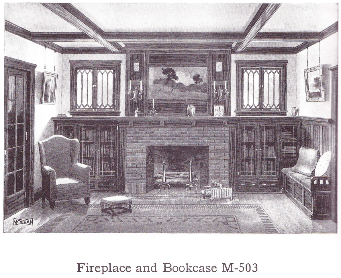 Bungalow Fireplace Mantel Living Room Published In Millwork Catalog In1921 By The