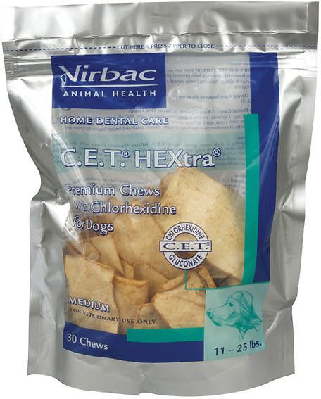 Virbac C E T Hextra Premium Dental Dog Chews Medium Breed 30