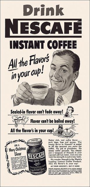 Nescafe Instant Coffee Ad, 1951 by alsis35, via Flickr