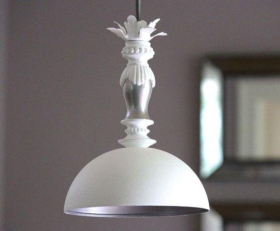 shabby chic pendant lighting. Modern Dome Hanging Pendant Light Fixture Shabby Cottage Chic Beach House Lampshade Bedroom Dining Room Bathroom HARDWIRED - MySecretLite Lighting O