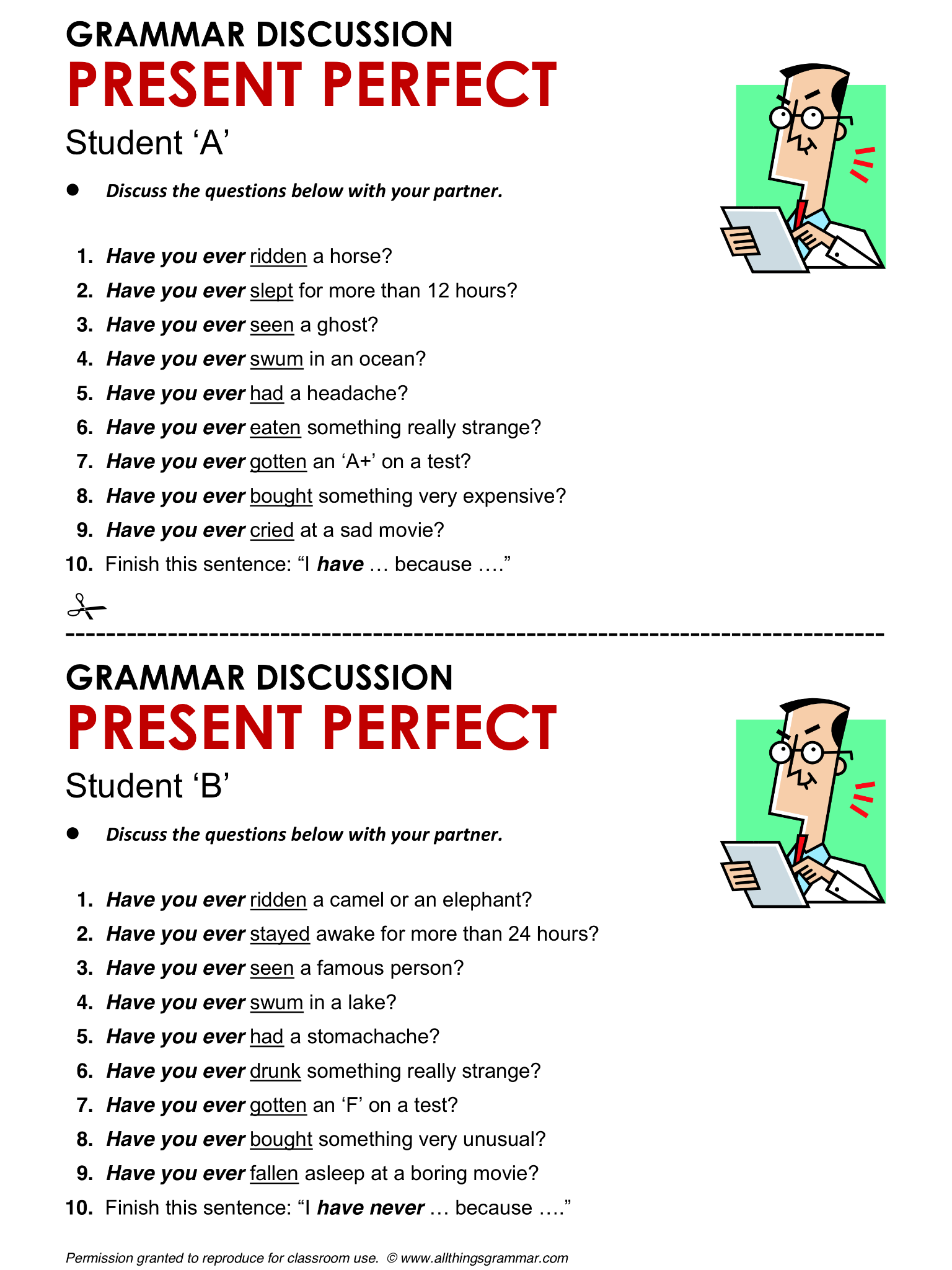 English Grammar Present Perfect Simple Lthingsgrammar Present Perfect Simple