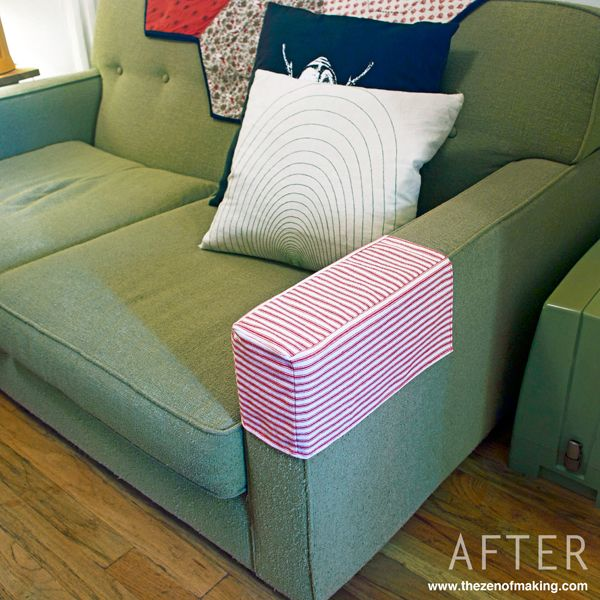 Fabulous Tutorial Simple Fabric Armrest Covers Sofa Arm Covers Alphanode Cool Chair Designs And Ideas Alphanodeonline