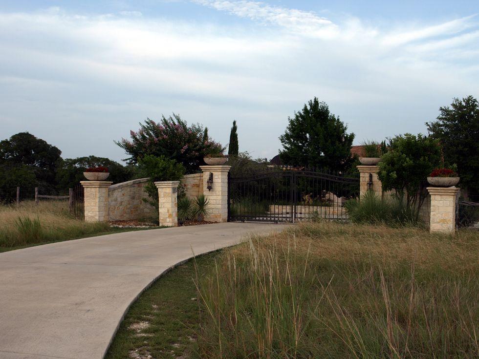 Gates entrances texas ranch style hill country