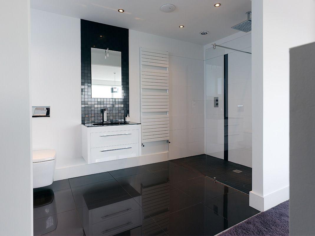 contemporary black and white ensuite contemporary bathrooms