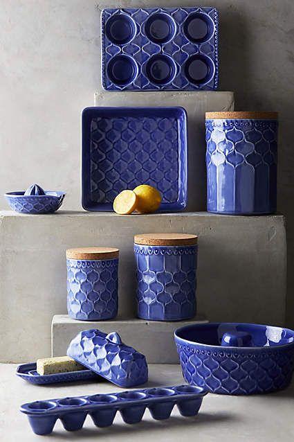 Adelaide Kitchenware - anthropologie Home Style Pinterest - dunkelblaue kche
