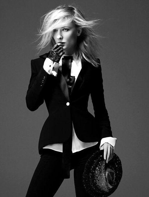 Cate Blanchett, women's suit--I want a fo-tux suit sometime...