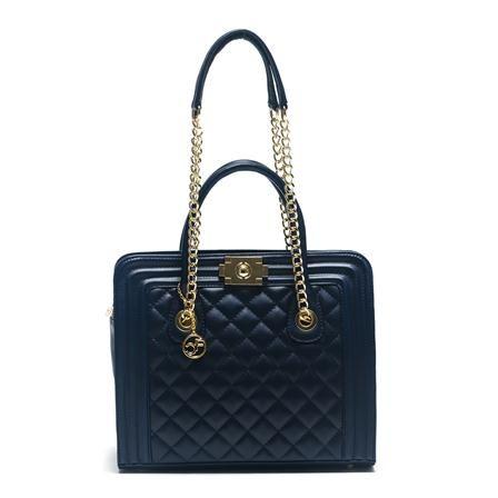 Carla Ferreri Leather Handbag, Blue