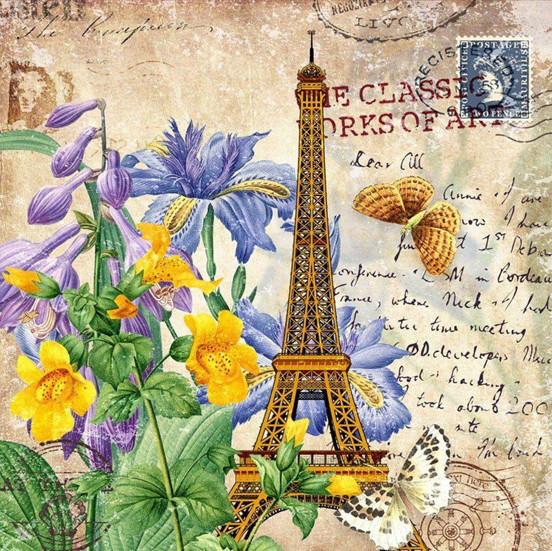 Девушке скучаю, париж стиль в открытках