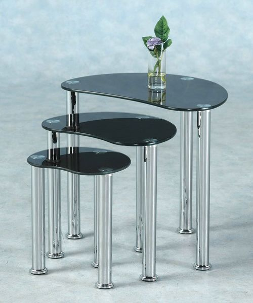 Modern Glass Nesting Tables Glass Table Set Glass Table Set