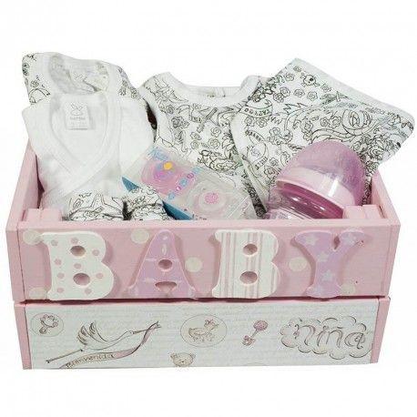 Cesta tattoo caja ni a ii canastillas para bebes bebe - Cajas decoradas para bebes ...