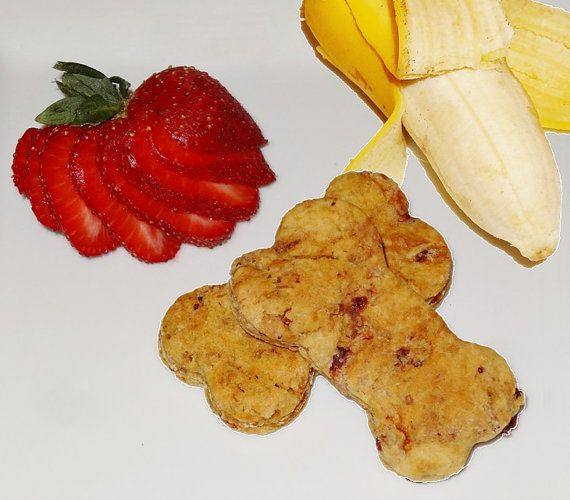 Strawberry And Banana Dog Treats Healthy Dog Bones Vegetarian