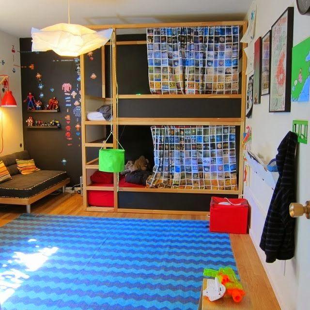 Ikeas Kura Bed Twee Bedden Boven Elkaar In Richtingen Gezet Kan Allebei