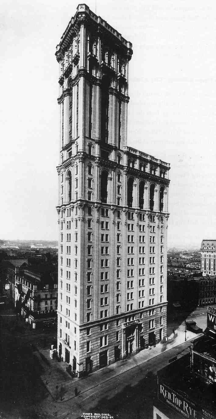Times Square :THE TIMES TOWER has been completed in 1903-1905