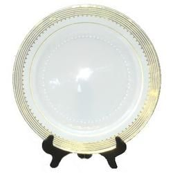Princess Gold 10-1/2-inch Plastic Plates