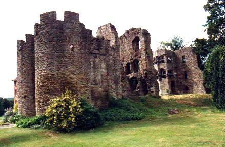 Brampton Bryan Castle - Harper Line  My 19th Great Grandmother  Maud Brampton 1308-1354  Lived there in Hereforshire, England