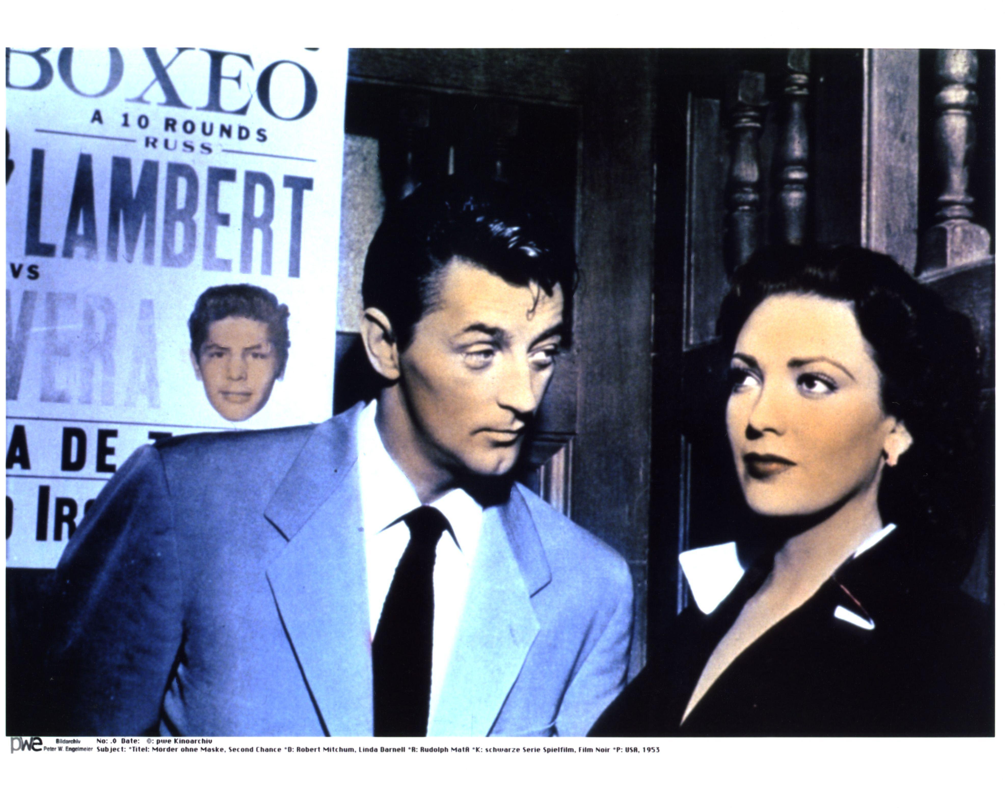 Robert Mitchum & Linda Darnell