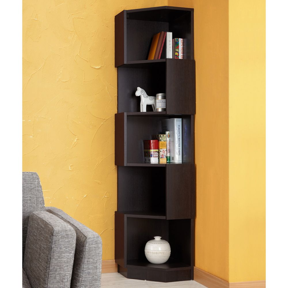 Furniture Of America Austin Contoured Bookcase Display Stand Ping The Best Deals On Media Bookshelves