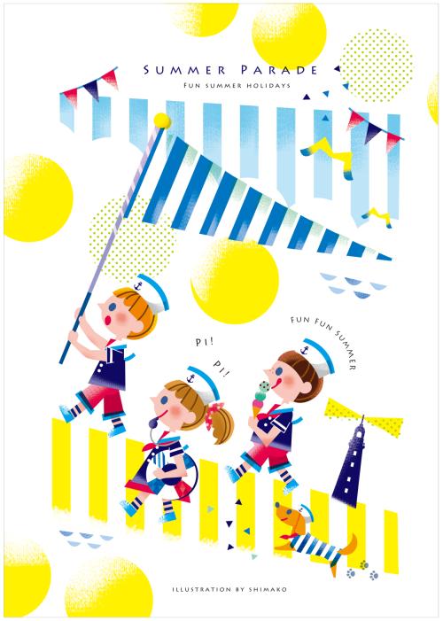 summer parade design diseño catalogo ilustraciones illustration