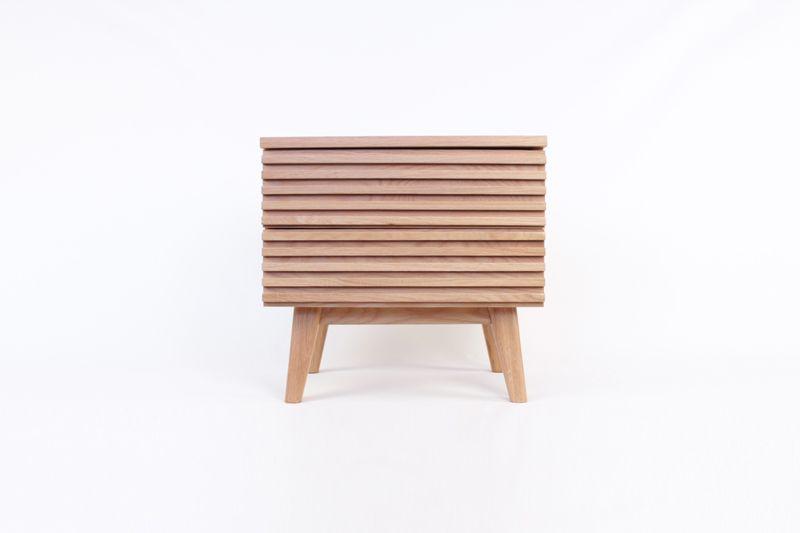 Louvre Side Table Solid Oak Wood Solid Oak Wood Furniture Wood