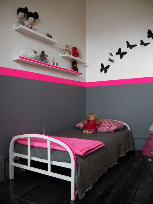 chambre rose fluo | aime la ligne rose fluo qui parcourt cette ...