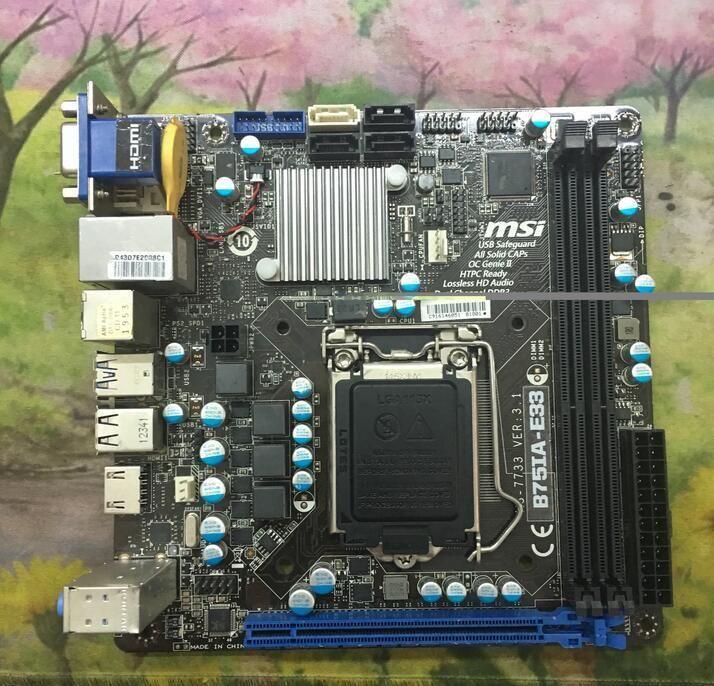 Visit to Buy] For MSI B75IA-E33 Original Used Desktop